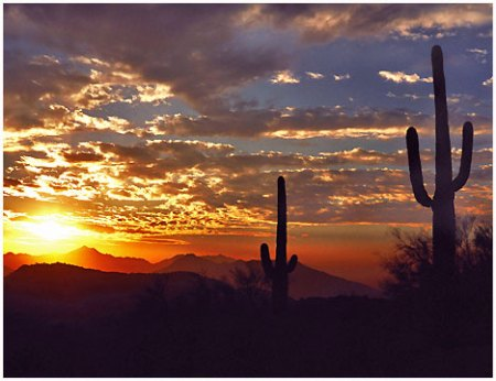 Arizona Sunset - Ready for bed!