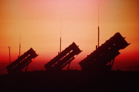 patriot_missile_batter_at_sunset